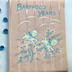 1962 Vintage Baby Memory Book for a Girl
